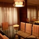 Cortina em Organza de Seda para Sala de Jantar. Projeto Pw Design