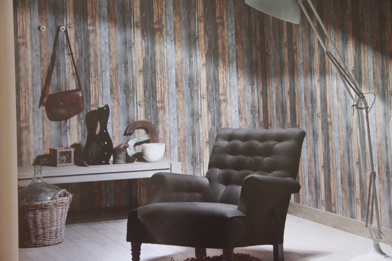 Papel de parede com textura de madeira de demolicao 2 - Papel para paredes ikea ...